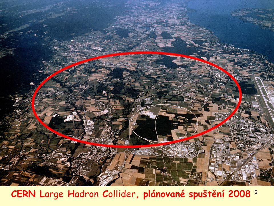 2 CERN Large Hadron Collider, plánované spuštění 2008