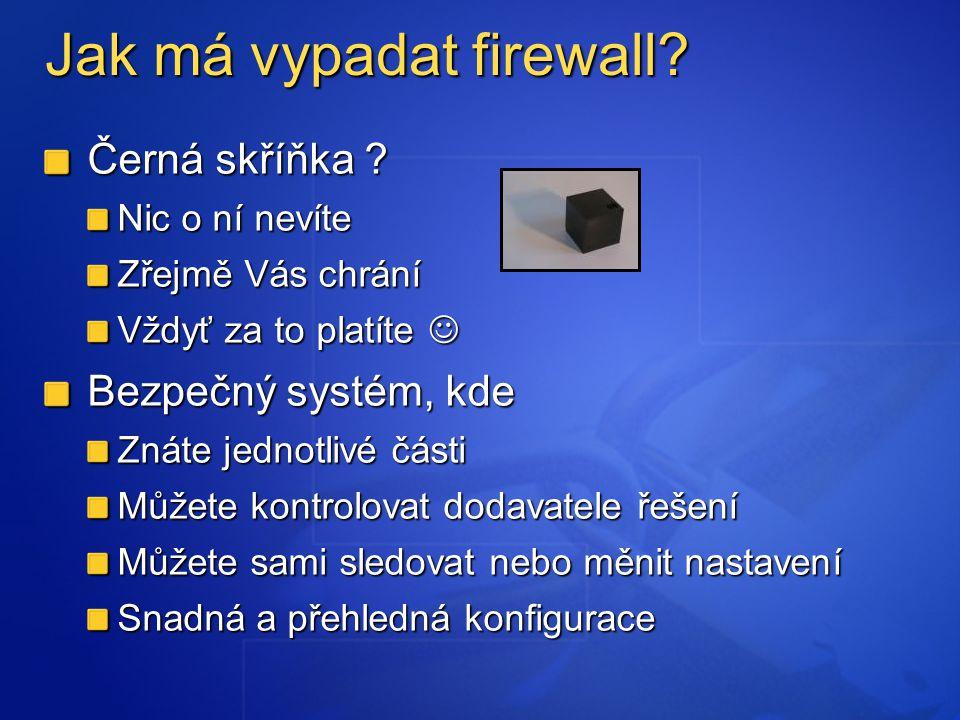 Jak má vypadat firewall. Černá skříňka .