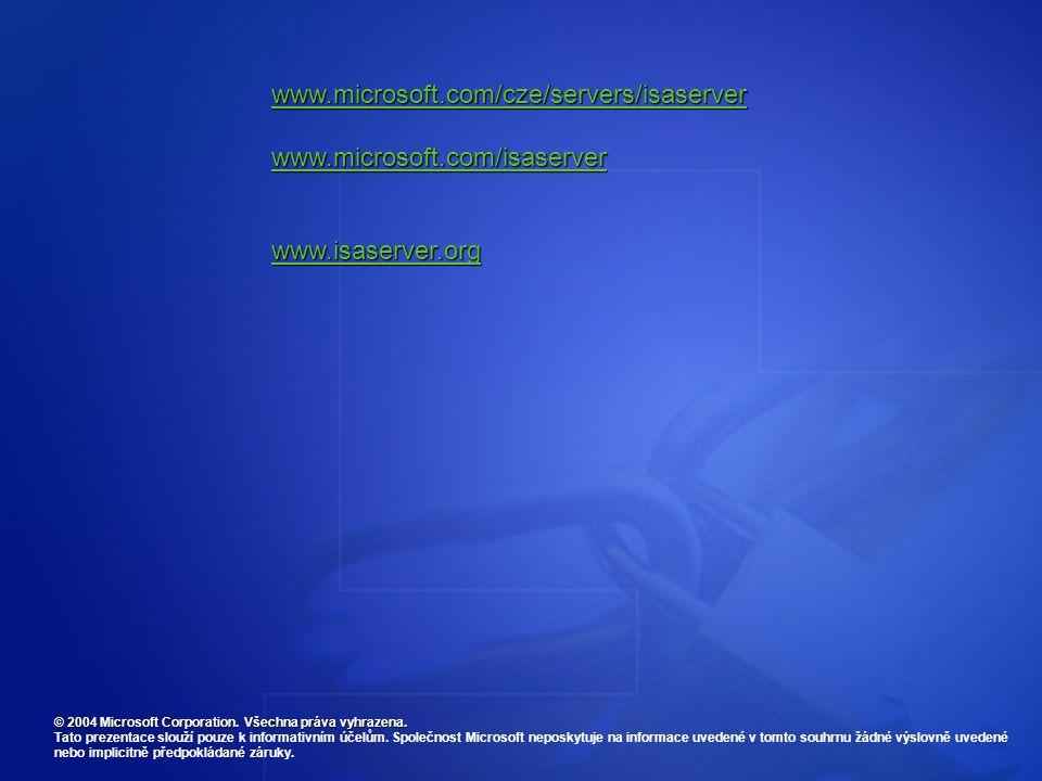 © 2004 Microsoft Corporation. Všechna práva vyhrazena.