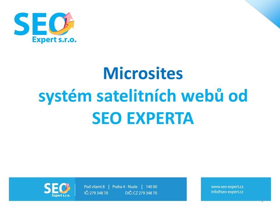 Microsites systém satelitních webů od SEO EXPERTA 1