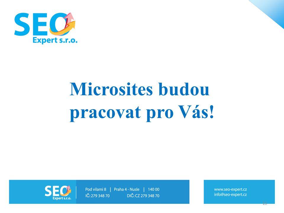 Microsites budou pracovat pro Vás! 15