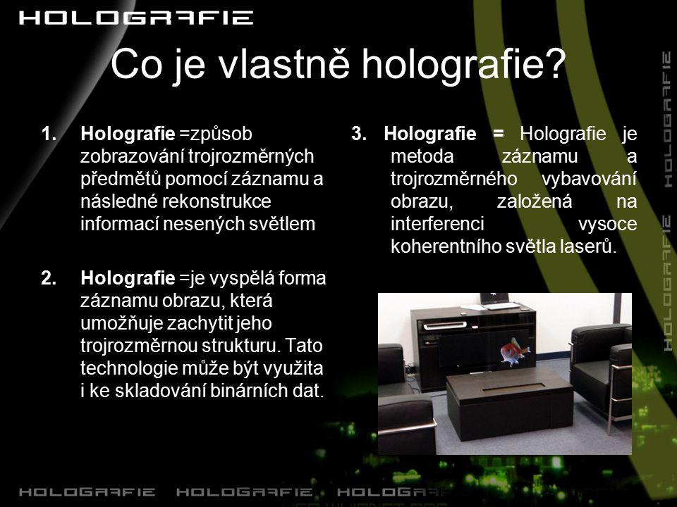 Co je vlastně holografie.