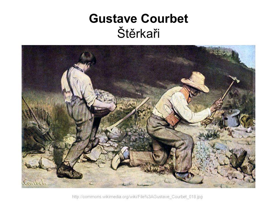 Gustave Courbet Štěrkaři http://commons.wikimedia.org/wiki/File%3AGustave_Courbet_018.jpg