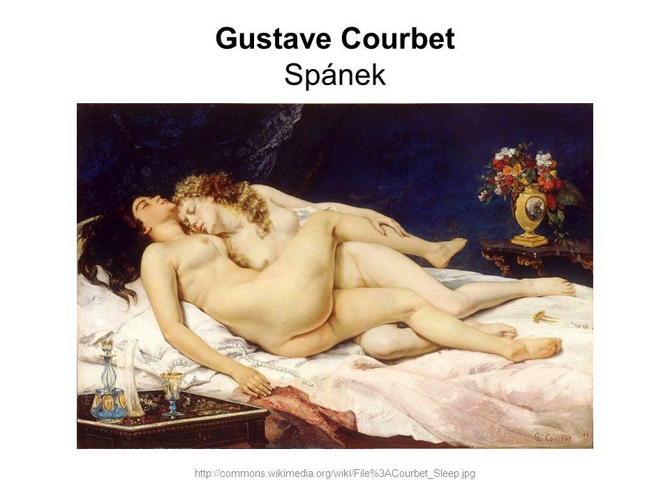 Gustave Courbet Spánek http://commons.wikimedia.org/wiki/File%3ACourbet_Sleep.jpg