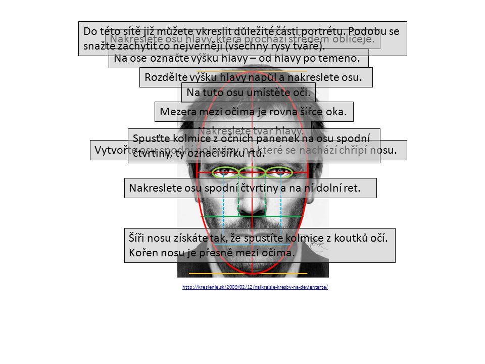 http://kreslenie.sk/2009/02/12/najkrajsie-kresby-na-deviantarte/ Nakreslete osu hlavy, která prochází středem obličeje.