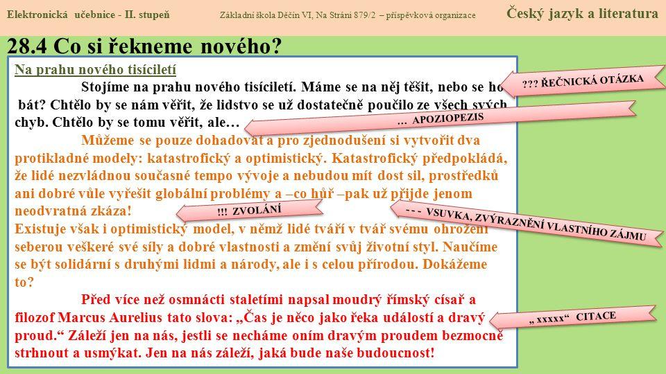 28.5 Procvičení a příklady Elektronická učebnice - II.