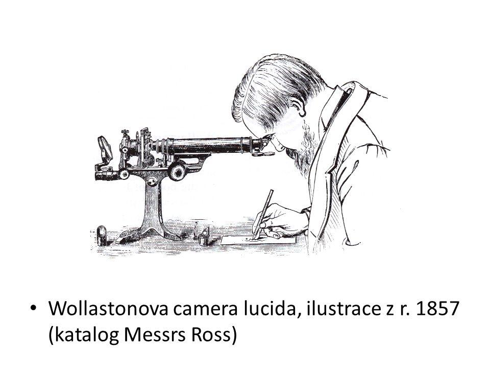 Wollastonova camera lucida, ilustrace z r. 1857 (katalog Messrs Ross)