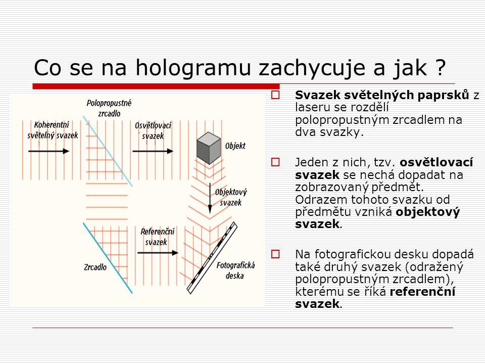 Co se na hologramu zachycuje a jak .