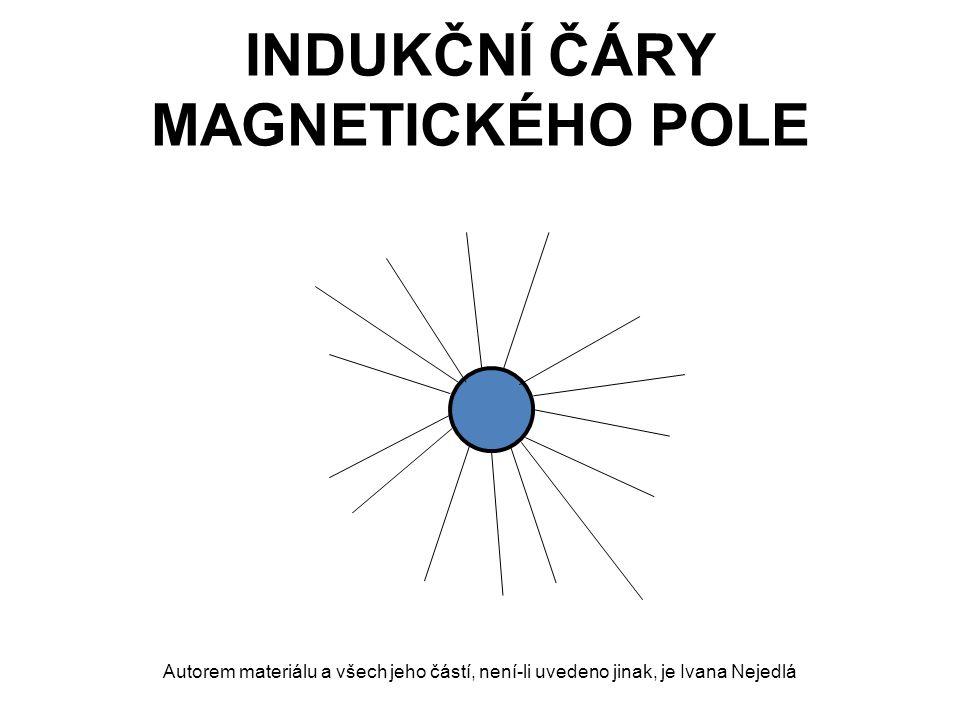 INDUKČNÍ ČÁRY MAGNETICKÉHO POLE Autorem materiálu a všech jeho částí, není-li uvedeno jinak, je Ivana Nejedlá