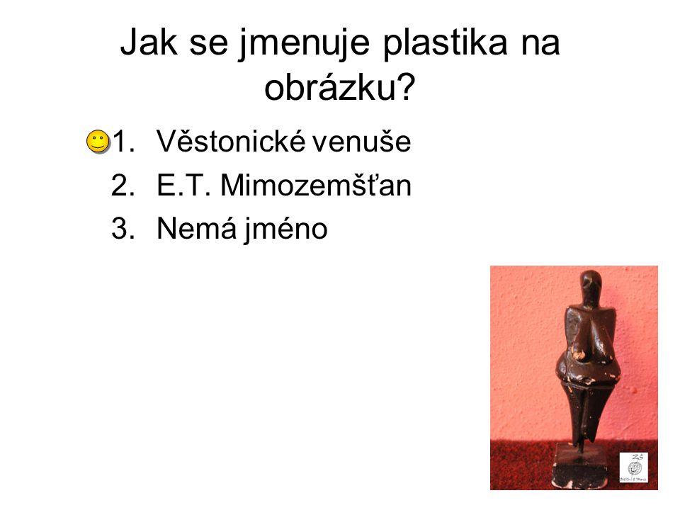 Jak se jmenuje plastika na obrázku? 1.Věstonické venuše 2.E.T. Mimozemšťan 3.Nemá jméno
