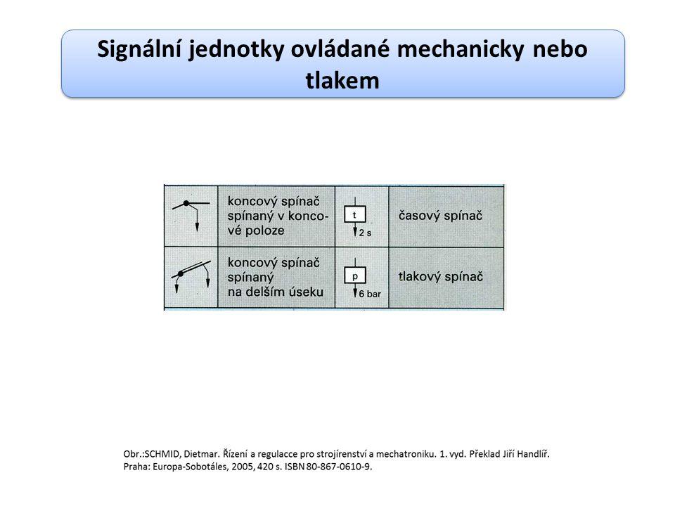 Signální jednotky ovládané mechanicky nebo tlakem
