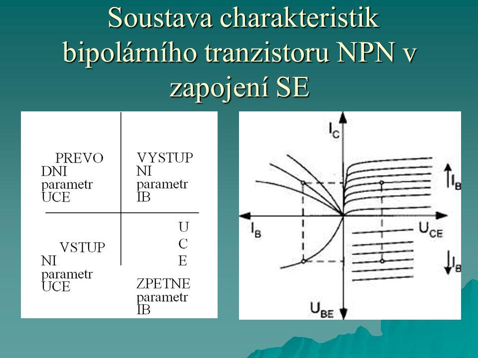 Soustava charakteristik bipolárního tranzistoru NPN v zapojení SE Soustava charakteristik bipolárního tranzistoru NPN v zapojení SE