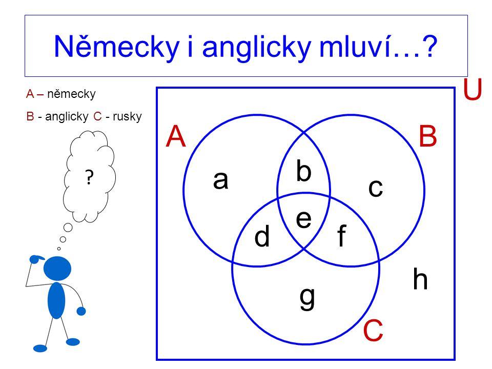 e AB C U a b c df g h Německy i anglicky mluví… A – německy B - anglicky C - rusky