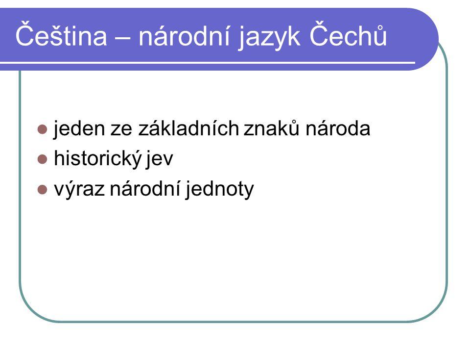 Útvary národního jazyka spisovná a nespisovná čeština nespisovná čeština
