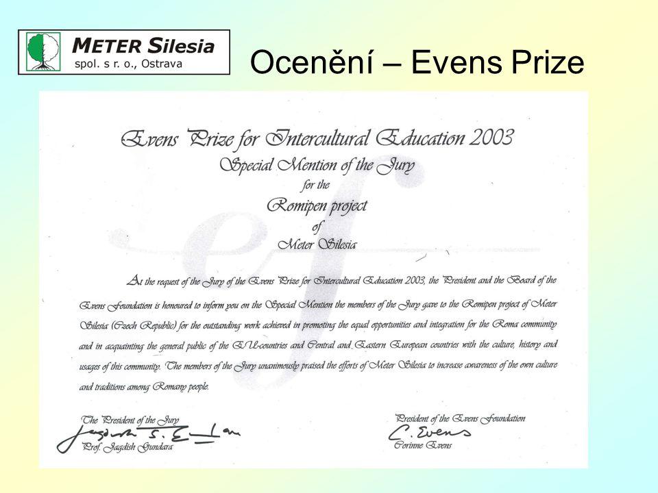 Ocenění – Evens Prize