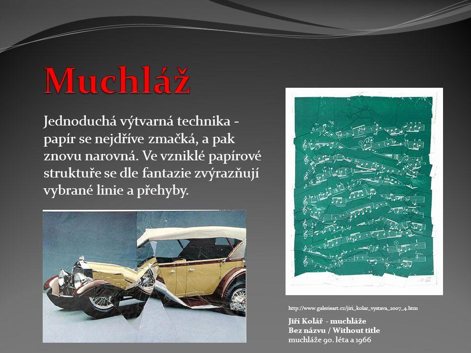 http://www.galerieart.cz/jiri_kolar_vystava_2007_4.htm Jiří Kolář - muchláže Bez názvu / Without title muchláže 90.