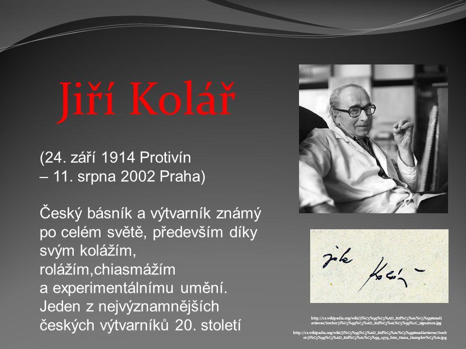 Jiří Kolář (24.září 1914 Protivín – 11.