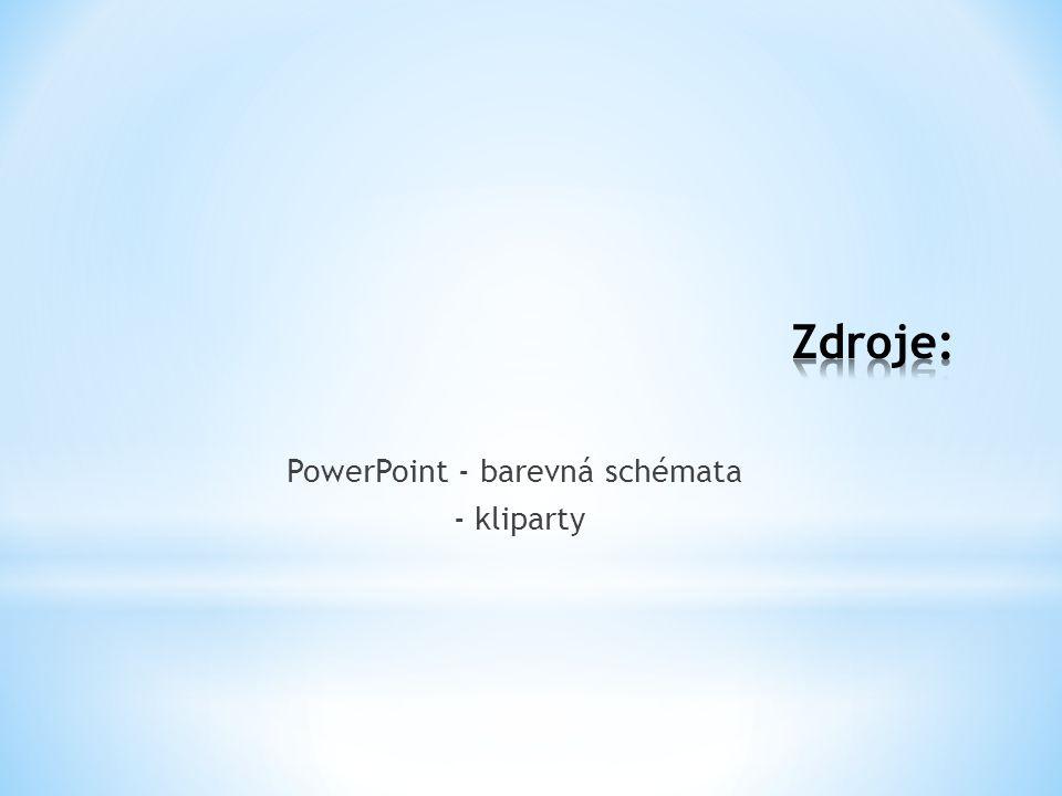 PowerPoint - barevná schémata - kliparty
