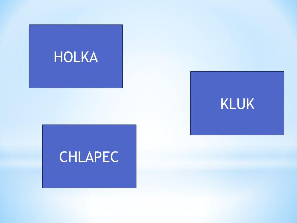HOLKA CHLAPEC KLUK