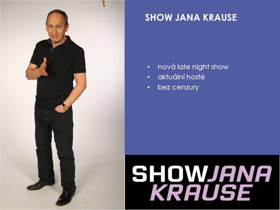 nová late night show aktuální hosté bez cenzury SHOW JANA KRAUSE