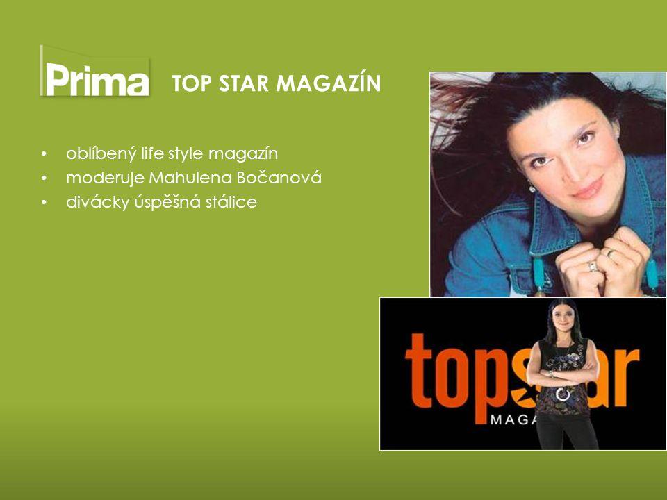 oblíbený life style magazín moderuje Mahulena Bočanová divácky úspěšná stálice TOP STAR MAGAZÍN