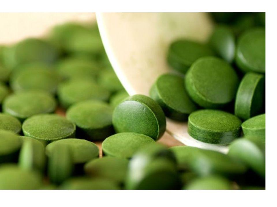 Chlorella je významným doplňkem stravy Má vysoký obsah bílkovin (57,5g/100g), podobně jako u spirulíny.