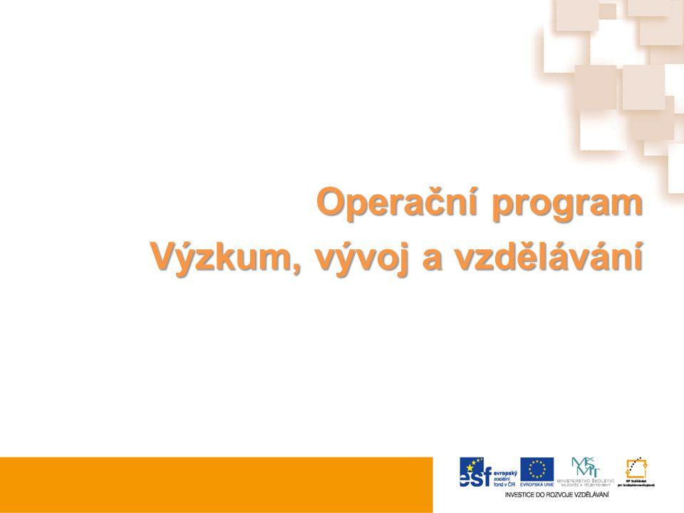 Operační program Výzkum, vývoj a vzdělávání