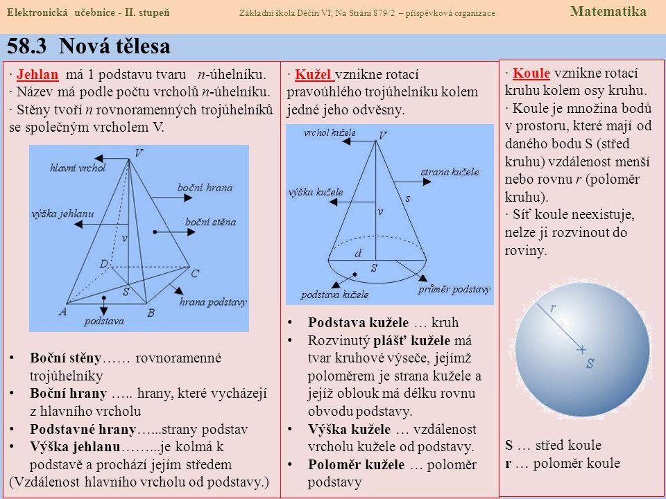 58.2 Co už umíme Elektronická učebnice - II. stupeň Základní škola Děčín VI, Na Stráni 879/2 – příspěvková organizace Matematika S = a.b mm 2 cm 2 dm