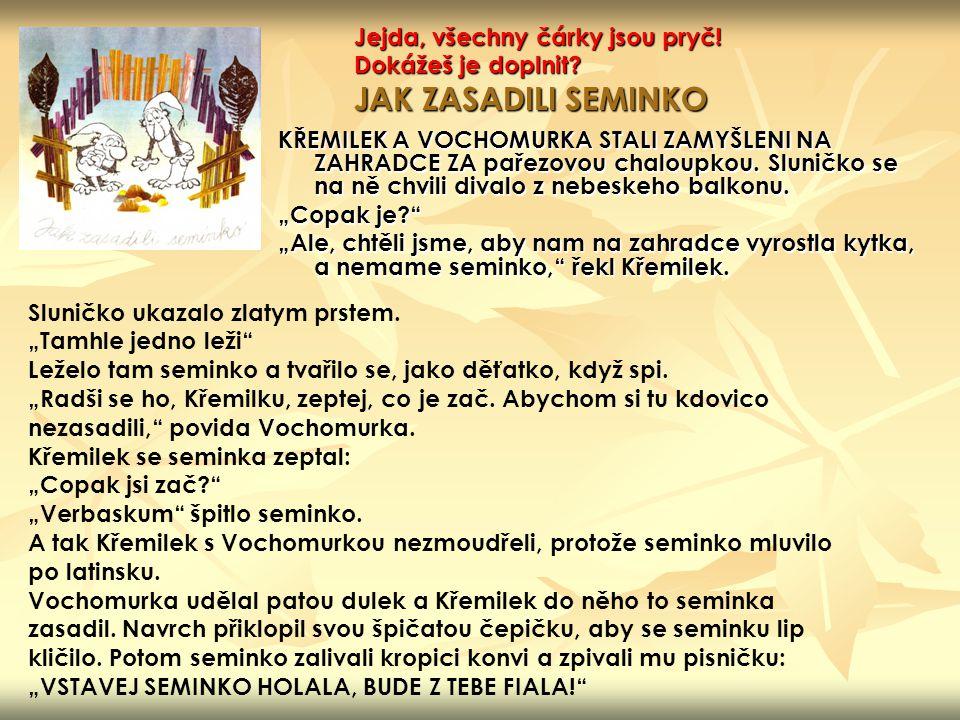 ČTVRTEK, Václav.Pohádky z pařezové chaloupky Křemílka a Vochomůrky.