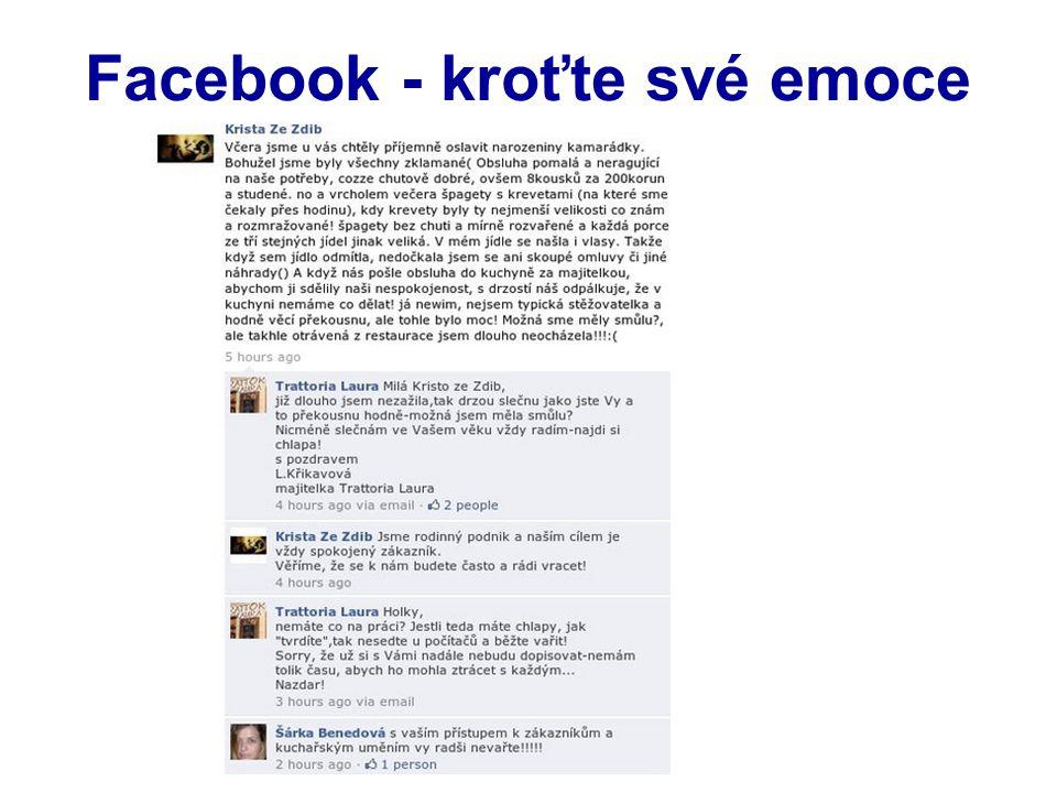 Facebook - kroťte své emoce