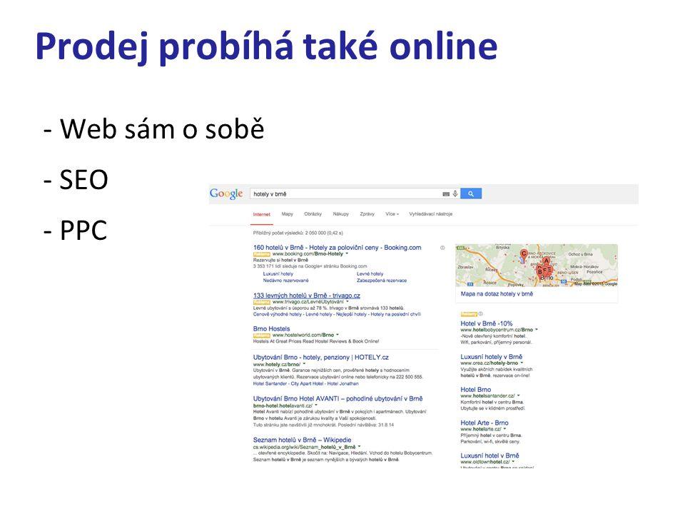 Prodej probíhá také online - Web sám o sobě - SEO - PPC