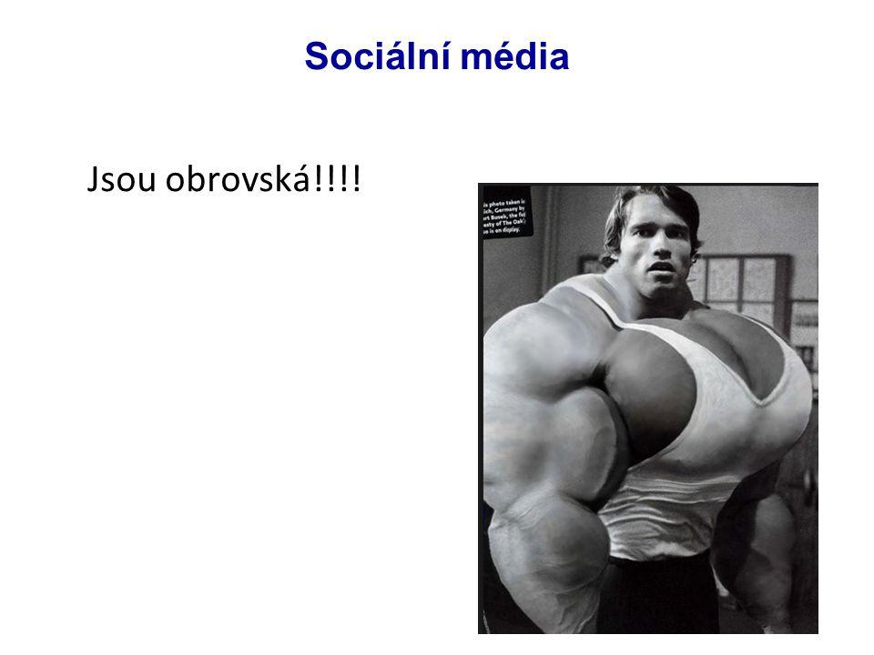 Jsou obrovská!!!! Sociální média