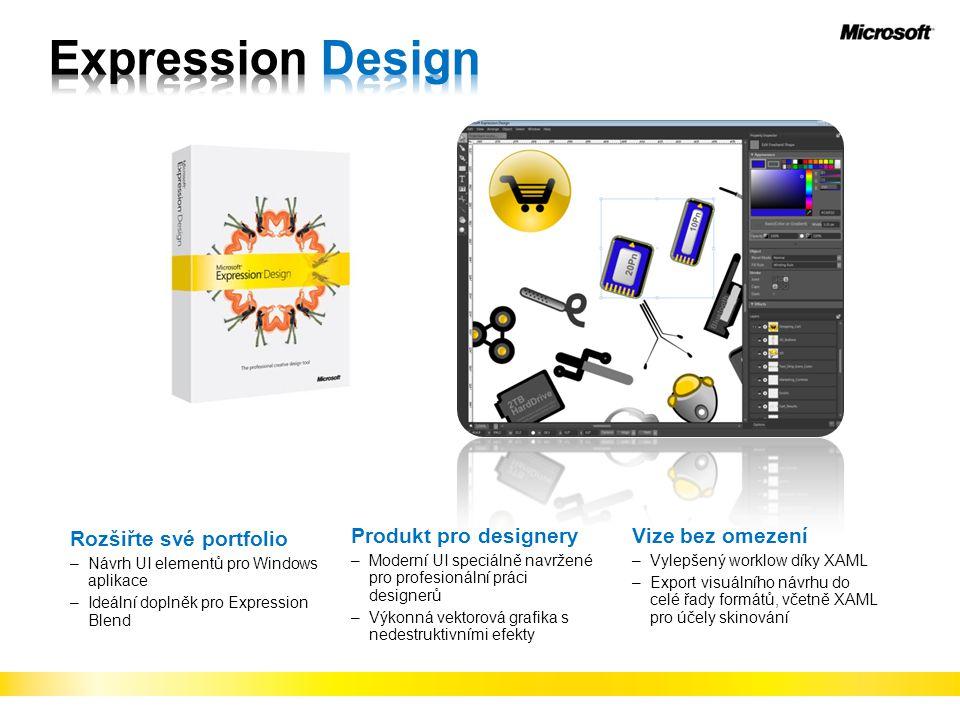 Rozšiřte své portfolio –Návrh UI elementů pro Windows aplikace –Ideální doplněk pro Expression Blend Produkt pro designery –Moderní UI speciálně navrž
