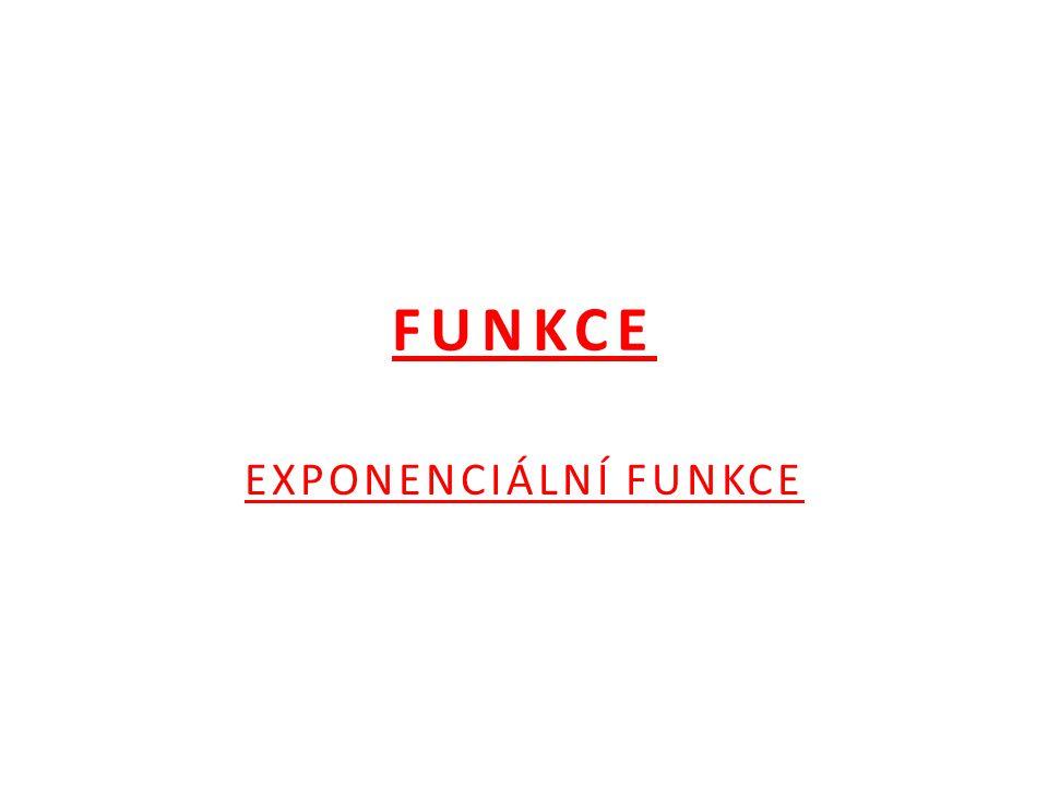 FUNKCE EXPONENCIÁLNÍ FUNKCE