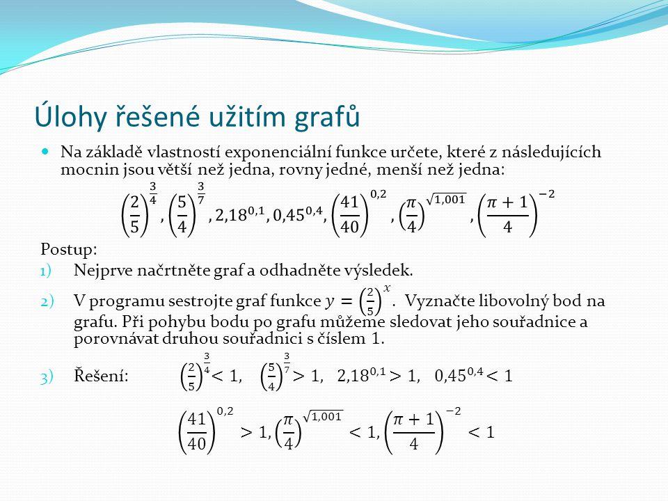 Úlohy řešené užitím grafů