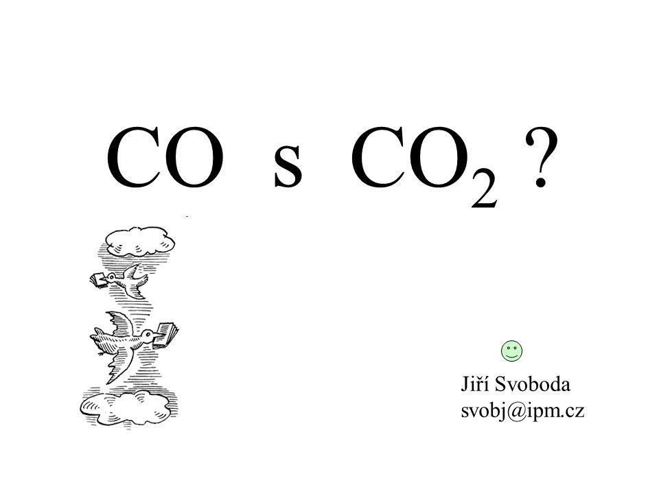CO s CO 2 ? Jiří Svoboda svobj@ipm.cz