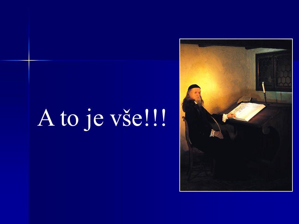 Labyrint světa a ráj srdce Jinotajná skladba (zobrazuje deziluzi z poznání marnosti lidského světa), napsaná česky.