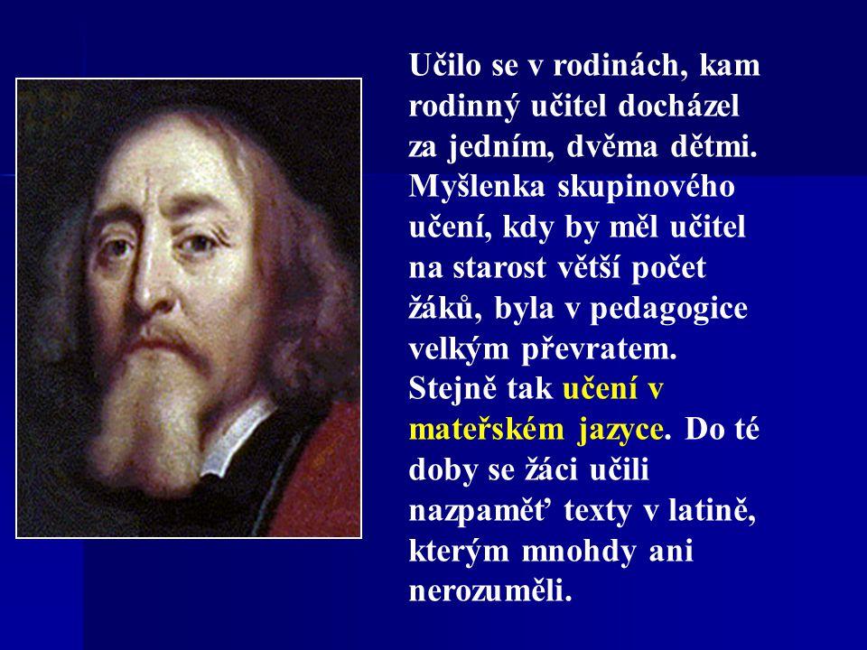 Díla pedagogická Ve svých dílech prosazoval tzv.