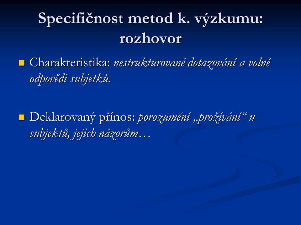 Specifičnost metod k.