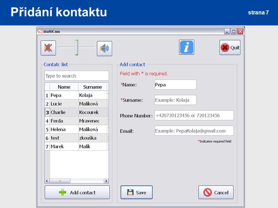 Editace kontaktu strana 8