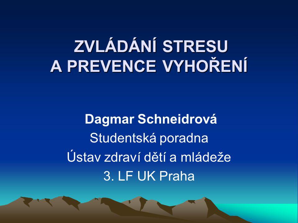 Zdroje Kampaň SLIC – Psychosociální rizika na pracovišti - http://www.szu.cz/tema/pracovni-prostredi/kampan-slic-psychosocialni-rizika-na- pracovisti?highlightWords=SLIC, 2012.