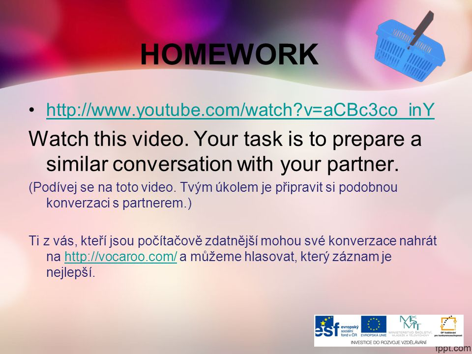 HOMEWORK   v=aCBc3co_inY Watch this video.