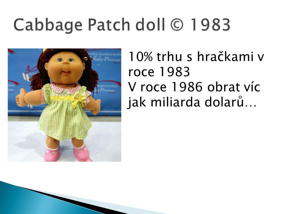 Cabbage Patch doll © 1983 10% trhu s hračkami v roce 1983 V roce 1986 obrat víc jak miliarda dolarů…