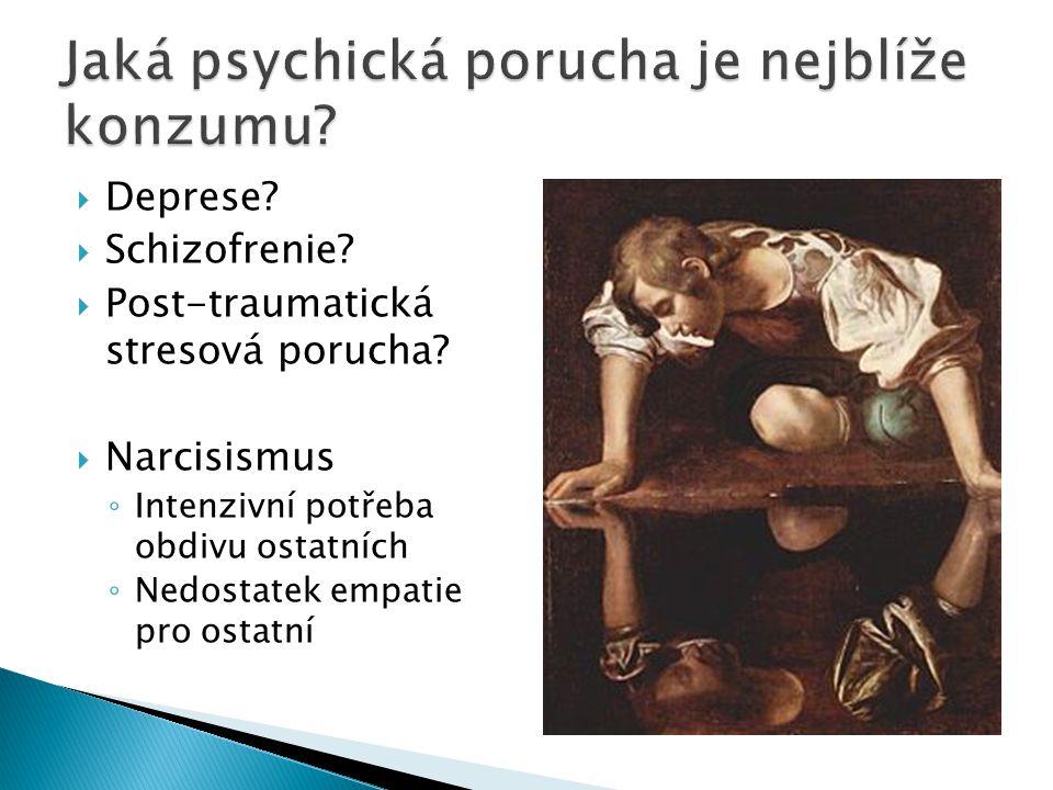  Deprese.  Schizofrenie.  Post-traumatická stresová porucha.