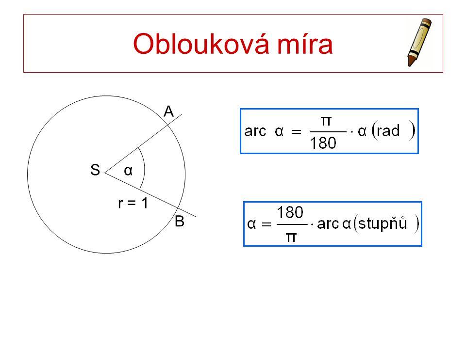 Oblouková míra S B A r = 1 α