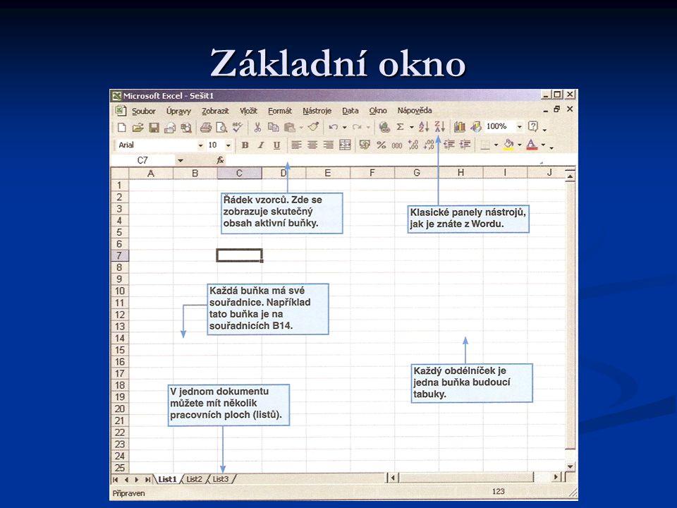 Zarovnávání Je další kartou, kde lze nastavit zarovnání nejen pozicí v buňce (na střed, vlevo, vpravo), ale také možnost svislého textu.