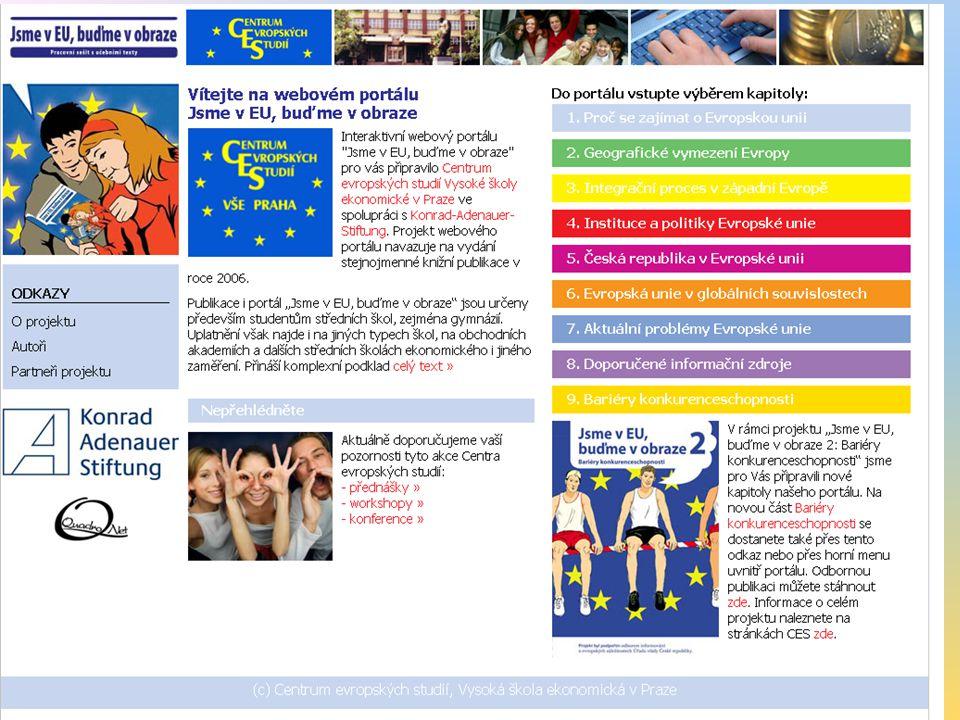 Struktura pracovního sešitu 1.Proč se zajímat o Evropskou unii 2.