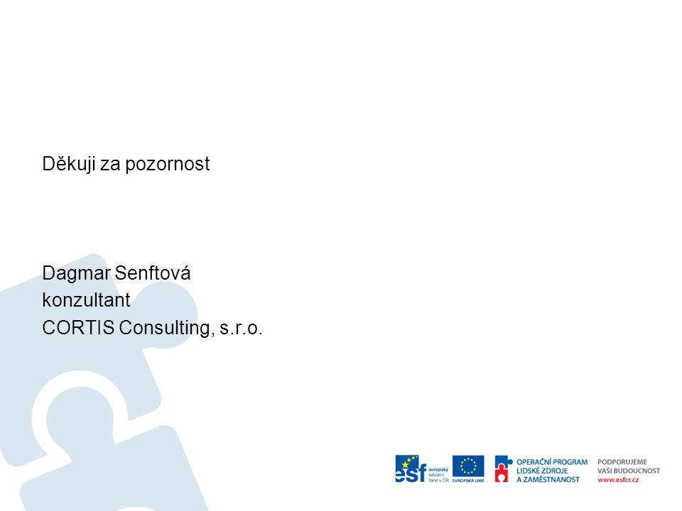 Děkuji za pozornost Dagmar Senftová konzultant CORTIS Consulting, s.r.o.