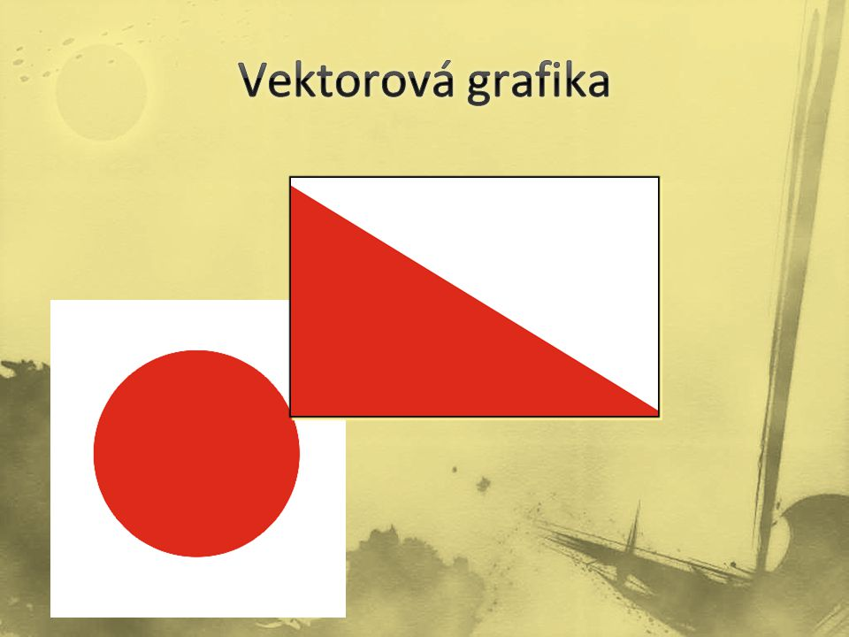 Vektorová grafika popisuje obrázky pomocí čar a křivek, které se nazývají vektory.