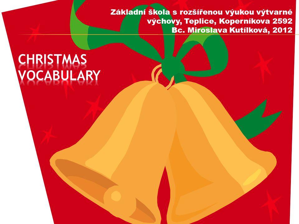  snímky 1 – 3: úvodní, povinné údaje  snímky 4, 5: přiřazování (slovní zásoba)  snímek 6: vánoční kalendář (doplňování)  snímek 7: správné řešení  snímky 8 – 11: Vánoční kvíz  snímek 12: řešení kvízu  snímek 13: vánoční přání  snímek 14: metodické poznámky  snímek 15: použité zdroje